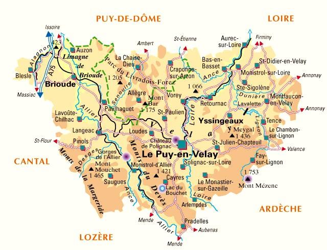 La Haute-Loire : 43